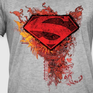 DC Comics Superman Logo Strength - Männer Vintage T-Shirt