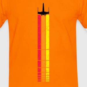 x-wing retro stripe - Men's Ringer Shirt