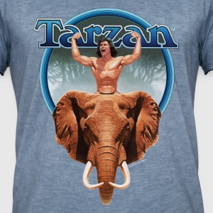 Tarzan Power with Elephant - Maglietta vintage da uomo