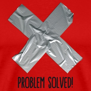 Problem Solved Duct tape T-shirts - Mannen Premium T-shirt