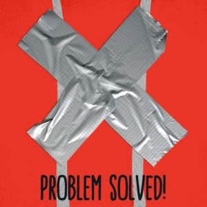 Problem Solved Duct tape Gensere - Premium hettegenser for menn