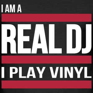 real DJ play vinyl Schallplatte Club turntables T-Shirts - Männer Slim Fit T-Shirt