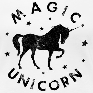 MAGIC UNICORN, EINHORN T-Shirt weiss - Frauen Premium T-Shirt