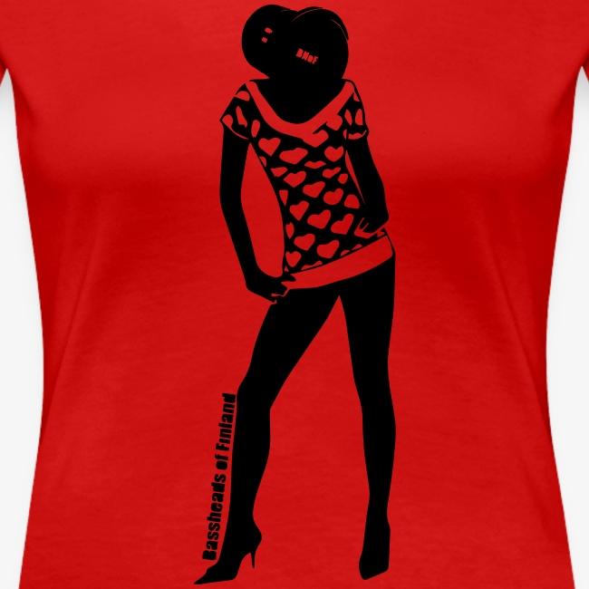 Bassopää naisten t-paita