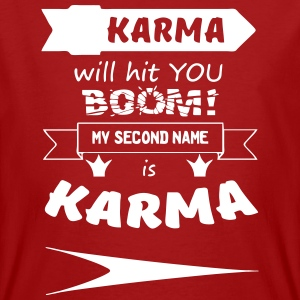 My second name is Karma - Männer Bio-T-Shirt