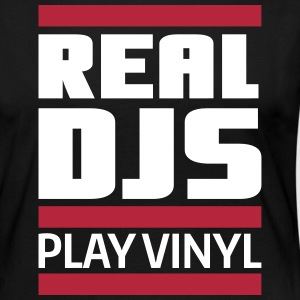 real DJ play vinyl Schallplatte Club turntables Manches longues - T-shirt manches longues Premium Femme