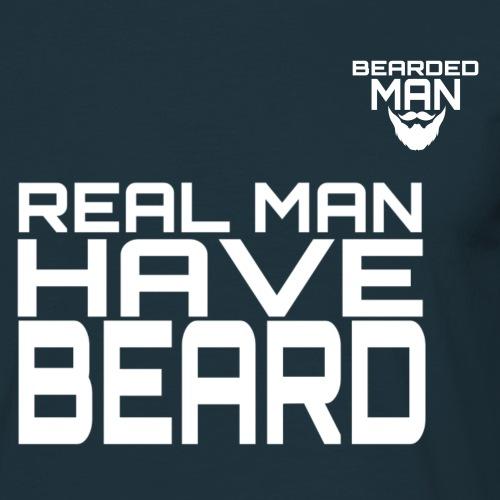 logo beardedman bianco