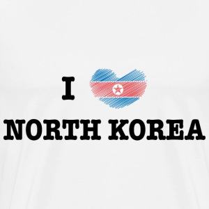 I Love North Korea T-Shirts - Men's Premium T-Shirt