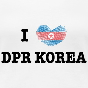 I Love DPR Korea (North Korea) T-skjorter - Premium T-skjorte for kvinner