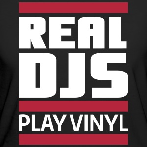 real DJ play vinyl Schallplatte Club turntables T-Shirts - Frauen Bio-T-Shirt