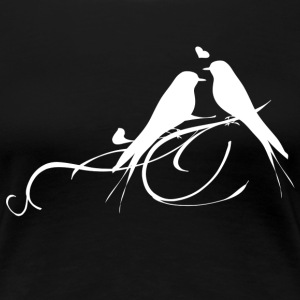 Love birds dames t-shirt - Vrouwen Premium T-shirt