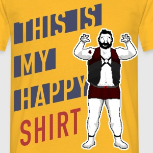 Happy Shirt Bear Pixel Art - Männer T-Shirt