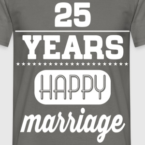 25 Years Happy Marriage T-Shirts - Männer T-Shirt