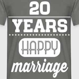 20 Years Happy Marriage T-Shirts - Männer T-Shirt