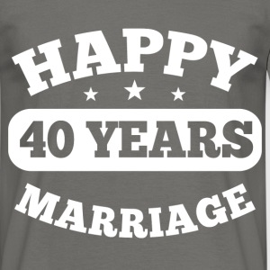 40 Years Happy Marriage T-Shirts - Männer T-Shirt