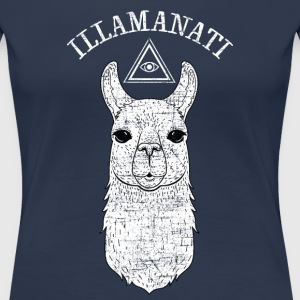 Illamanati | Cool Llama Design with Triangle T-Shirts - Frauen Premium T-Shirt