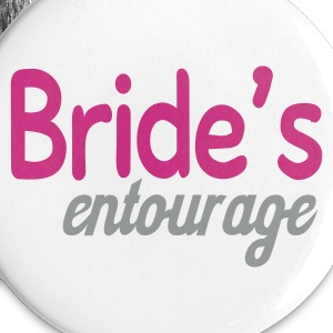 White Bride's entourage Buttons - Buttons large 56 mm