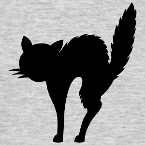 scared cat (cheap!) Camisetas - Camiseta hombre