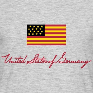 United States of Germany - kleine Fahne  - Männer T-Shirt