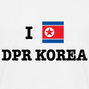 I Love North Korea (DPR Korea) T-Shirts - Men's T-Shirt