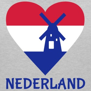 Netherlands Heart T-Shirts - Women's V-Neck T-Shirt