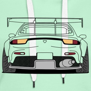 rx7 rear outlines Gensere - Premium hettegenser for kvinner