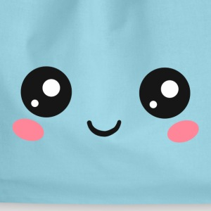 Happy Kawaii Eyes, Manga Face, Anime, Comics Bags & Backpacks - Drawstring Bag