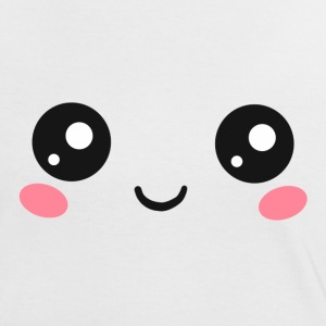 Happy Kawaii Augen, Manga Gesicht, Anime, Comic T-Shirts - Frauen Kontrast-T-Shirt
