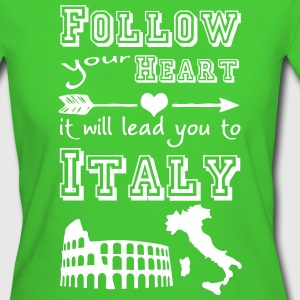 Heart leads you to Italy - Frauen Bio-T-Shirt