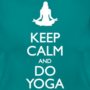 Keep calm and do yoga - Frauen T-Shirt