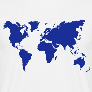 Weltkarte World map - Männer T-Shirt