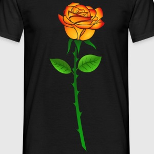 Tshirt Rose orange 2 - Männer T-Shirt