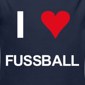 I love fussball - Baby Bio-Langarm-Body