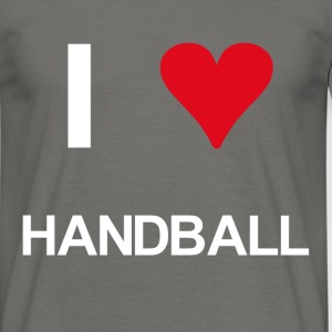 I love handball - Männer T-Shirt