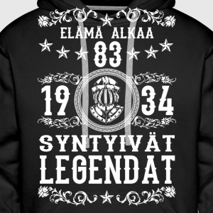 1934 - 83 vuotta - Legendat - 2017 - FI Hoodies & Sweatshirts - Men's Premium Hoodie