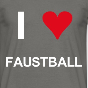 I love faustball - Männer T-Shirt