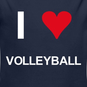 I love volleyball - Baby Bio-Langarm-Body