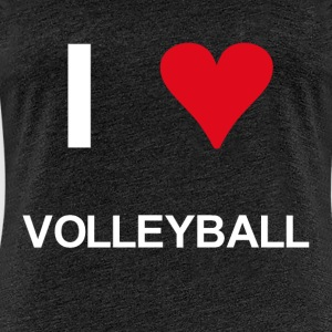 I love volleyball - Frauen Premium T-Shirt