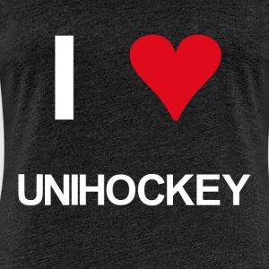 I love unihockey - Frauen Premium T-Shirt