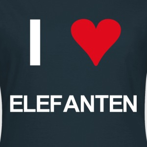 I love Elefanten - Frauen T-Shirt
