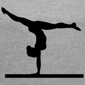 Gymnast, gymnastics, balance beam (super cheap) T-Shirts - Women's T-shirt with rolled up sleeves