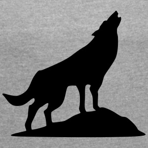 Wolf - Wolkshund (super cheap) T-Shirts - Women's T-shirt with rolled up sleeves