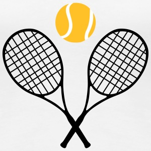 Tennis, tennis racket and tennis ball (cheap!) Camisetas - Camiseta premium mujer
