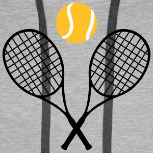 Tennis, tennis racket and tennis ball (cheap!) Hoodies & Sweatshirts - Men's Premium Hoodie