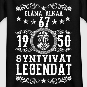 1950 - 67 vuotta - Legendat - 2017 - FI T-shirts - Teenager-T-shirt