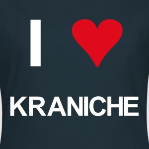 I love Kraniche - Frauen T-Shirt