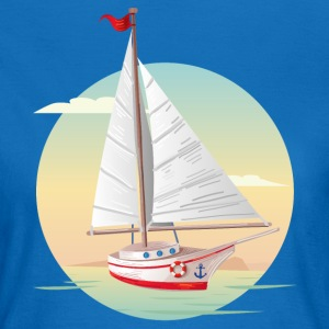 segelboot_05_201701 T-Shirts - Frauen T-Shirt