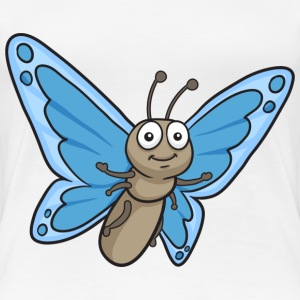 Butterfly Cartoon - Women's Premium T-Shirt