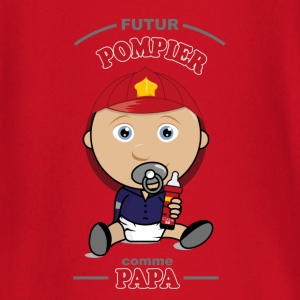 futur pompier comme papa Tee shirts manches longues Bébés - T-shirt manches longues Bébé