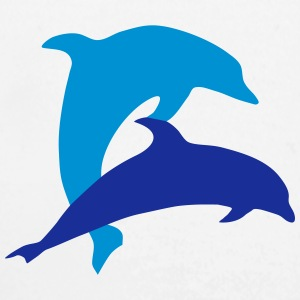 Dolphins and heart, dolphin (super cheap!) Babybody - Økologisk langermet baby-body